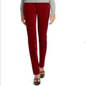 Brooks Brothers Natalie Fit Red Corduroy Pants 0